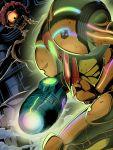 bad_id damaged glowing konpeto lala-kun metroid mother_brain neon_trim power_armor samus_aran super_metroid varia_suit