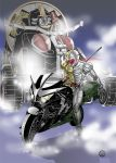 highres kamen_rider kamen_rider_double kamen_rider_w motor_vehicle motorcycle pixiv_manga_sample vehicle