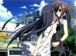 2girls dress kagome kiss minakami_yuki seifuku subarashiki_hibi takashima_zakuro yuri