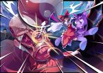 crossover hakurei_reimu highres my_little_pony my_little_pony_friendship_is_magic oversized_object pony riding shingeki_no_kyojin touhou twilight_sparkle yin_yang zxyon2008