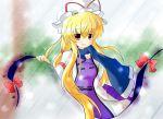 blush gap hat long_hair scarf touhou very_long_hair yakumo_yukari yurume_atsushi