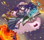 hat highres ooike_teru patchouli_knowledge purple_eyes purple_hair touhou violet_eyes