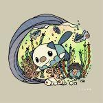 clamperl finneon no_humans oshawott pokemon pokemon_(game) pokemon_black_and_white underwater waves