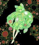 dress green_hair kitahara moemon personification pokemon pokemon_(game) pokemon_black_and_white pokemon_bw reuniclus sitting