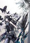 armpits black_hair blue_eyes butterfly hands highres long_hair original otacool solo utsuro_ku