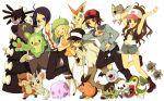 ahoge axew bell_(pokemon) blitzle blonde_hair brown_hair cheren_(pokemon) gothitelle klink minccino munna n_(pokemon) oshawott patrat pidove pokemon pokemon_black_and_white reuniclus snivy tepig touko_(pokemon) touya_(pokemon) victini woobat