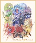 :p anniversary armor beatrix black_mage blank blonde_hair blue_eyes bow cinna eiko_carol everyone final_fantasy final_fantasy_ix freija_crescent freya_crescent garnet_til_alexandros_xvii green_eyes green_hair hat highres lani marcus mikoto moogle polearm quina_quen ribbon ruby_(ff9) salamander_coral short_hair shouta_(shbz) staff sword tail tongue vivi_ornitier weapon zidane_tribal