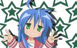 blue_hair izumi_konata lucky_star stars tagme