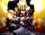 androgynous aplerichi axis_powers_hetalia blonde_hair christmas_tree green_eyes lights male poland_(hetalia) scarf solo winter