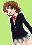 ai_wa_muteki alternate_hairstyle brown_hair k-on! red_eyes school_uniform short_hair suzuki_jun