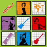 akiyama_mio album_cover cover don't_say_lazy drum guitar hirasawa_susumu hirasawa_yui instrument k-on! kotobuki_tsumugi parody poyo silhouette synthesizer tainaka_ritsu
