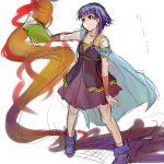 cape fire_emblem fire_emblem:_seima_no_kouseki lute_(fire_emblem) purple_hair shiina_maru smoke