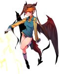 endou_mamoru genderswap headband hoochi_gumo horns inazuma_eleven panties red_eyes tail twintails underwear wings