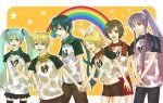 hatsune_miku kagamine_len kagamine_rin kaito kamui_gakupo meiko rainbow vocaloid