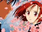 arima_soichirou cherry_blossoms kare_kano karekano kareshi_kanojo_no_jijou miyazawa_yukino red_eyes red_hair short_hair vector_trace