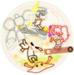 bad_id chibi kida_yu kirby's_epic_yarn kirby's_epic_yarn kujikawa_rise lightning_bolt parody persona persona_4 school_uniform serafuku shadow_(persona) shirogane_naoto skeleton style_parody take-mikazuchi tatsumi_kanji twintails