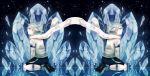 blue_eyes brothers fubuki_atsuya fubuki_shirou ice icicle inazuma_eleven kikinikoi kneeling multiple_boys night reflection siblings smile star twins white_hair wind yellow_eyes
