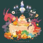 broom budew cake candy chandelier chandelure cookie emolga food gothorita halloween jack-o'-lantern joltik litwick mushroom panpour pansage pansear patrat pechika petilil pikachu pokemon pumpkin purrloin scolipede solosis trubbish woobat