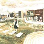 bear city kumaori_jun original school_uniform street walking