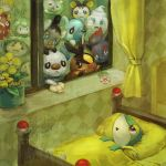 bed cubchoo darumaka emolga flower food gothita ice_cream kabu_kabu no_humans oshawott petilil pokemon pokemon_(game) pokemon_black_and_white pokemon_bw sad scraggy shell sick snivy solosis tepig tympole vanillite zorua