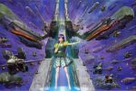 alien choujikuu_yousai_macross dress epic esbeliben fleet floating highres ichijou_hikaru lynn_minmay macross maximilian_jenius mecha meltrandi microphone millia_jenius missile official_art oldschool realistic regult scan sdf-1 space space_craft storm_attacker u.n._spacy vf-1 vf-1_super vf-1a vf-1j vf-1s walker war zentradi