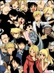 alex_luis_armstrong alphonse_elric armor bad_id black_hair blonde_hair blue_eyes blush brown_eyes dual_persona eating edward_elric envy_(fma) everyone fu_(fma) fu_(fullmetal_alchemist) fullmetal_alchemist glasses gluttony greed gun highres hohenheim izumi_curtis jean_havoc lan_fan ling_yao lust maes_hughes may_chang olivier_mira_armstrong open_mouth ponytail rarirureronn red_eyes riza_hawkeye roy_mustang ru_(xremotex) scar_(fma) scar_(fullmetal_alchemist) smile trisha_elric van_hohenheim weapon winry_rockbell xiao-mei yellow_eyes