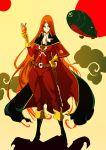 boots cape character_request emeraldas hekemori long_hair orange_hair queen_emeraldas very_long_hair
