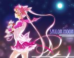 adult bishoujo_senshi_sailor_moon carrying cat chibi_usa child choker diana_(sailor_moon) double_bun elbow_gloves gloves jewelry long_hair magical_girl pink_hair sailor_chibi_moon shabomu skirt super_sailor_chibi_moon_(stars) tiara twintails very_long_hair