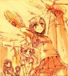 everyone misaka_mikoto monochrome saten_ruiko shirai_kuroko sketch smile takasu tks_(chikuwa) to_aru_kagaku_no_railgun to_aru_majutsu_no_index uiharu_kazari wind_turbine windmill