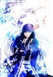 artist_request character_request flower hair_flower hair_ornament highres kanade_sakura long_hair original snow solo