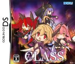 black_legwear black_thighhighs blonde_hair blush_stickers breasts broom chibi cleavage cover deathwing dragon_girl dragon_tail eating empty_eyes fake fake_cover food genderswap hood horns jewelry long_hair looking_back nefarian nefarian_(warcraft) nintendo_ds onyxia onyxien orange_eyes parody personification pink_hair purple_hair red_eyes red_hair redhead ribbon short_hair tail thigh-highs thighhighs twintails very_long_hair warcraft white_legwear white_thighhighs world_of_warcraft