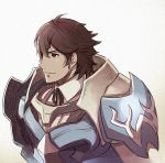 1boy armor brown_eyes brown_hair fire_emblem fire_emblem:_kakusei frederik_(fire_emblem) nintendo smile solo
