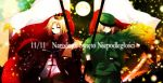 androgynous aplerichi axis_powers_hetalia blonde_hair crown flag green_eyes highres light_smile male multiple_boys poland_(hetalia) smile uniform