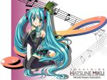 hatsune_miku long_hair musical_note solo twintails vocaloid