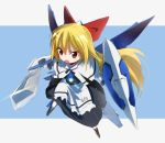 blonde_hair exia gochou_(comedia80) gundam gundam_00 gundam_exia long_hair red_eyes shanghai shanghai_doll shield sword sword_shield touhou very_long_hair weapon