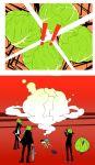 all-out_attack cabbage hanamura_yousuke highres hnmrk kuma_(persona_4) narukami_yuu persona persona_4 seta_souji tatsumi_kanji
