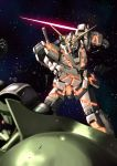 battle energy_sword gundam gundam_unicorn kshatriya mecha no_humans nt-d r_shotaro space star sword unicorn_gundam weapon