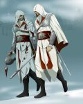 assassin's_creed:_brotherhood assassin's_creed_ii assassin's_creed assassin's_creed:_brotherhood assassin's_creed_ii beard blood boots cape ezio_auditore_da_firenze facial_hair gb_(doubleleaf) genmaipudding helmet hood rapier smile sword vambraces weapon