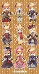 beatrice blonde_hair blue_eyes bow cat_tail chibi closed_eyes cosplay crown dress eva_beatrice eva_beatrice_(cosplay) eyes_closed flower frederica_bernkastel frederica_bernkastel_(cosplay) frown gloves grin hair_bow hair_flower hair_ornament hat highres hoe_satsuki lambdadelta lambdadelta_(cosplay) long_hair maria_(umineko) maria_(umineko)_(cosplay) multiple_persona open_mouth purple_eyes red_eyes sakutarou sakutarou_(cosplay) satsuki_(artist) scarf smile standing tail umineko_no_naku_koro_ni ushiromiya_ange ushiromiya_ange_(cosplay) ushiromiya_battler ushiromiya_battler_(cosplay) ushiromiya_maria ushiromiya_maria_(cosplay) violet_eyes virgilia virgilia_(cosplay)