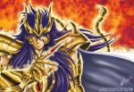 blue_eyes blue_hair full_armor jolyet saint_seiya saint_seiya:_the_lost_canvas scorpio_kardia smile