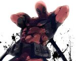 deadpool fxpdj katana kouta_(fxpdj) male marvel muscle pouch solo weapon