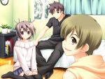 chikotam game_cg kiss_x_demon_lord_x_darjeeling male purple_eyes sanjouji_shinobu short_hair violet_eyes