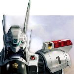 90s alphonse_(av-98_ingram) antennae av-98_ingram close-up highres hush26 japan kidou_keisatsu_patlabor mecha oldschool patlabor police realistic science_fiction solo