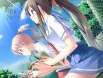 clouds game_cg kantoku miyazawa_midori natsu_no_ame sky