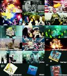 absurdres afro album_cover annotated beatles chuck chuck_(psg) comparison cover elvis_presley garterbelt_(character) garterbelt_(psg) gorillaz highres jimi_hendrix kiss_(rock_band) lady_gaga lady_gaga_(copyright) marilyn_manson mtv nevermind nirvana nirvana_(band) panty_&_stocking_with_garterbelt panty_(character) panty_(psg) parody pink_floyd queen_(band) screencap sex_pistols stocking_(character) stocking_(psg) tatu the_beatles