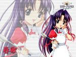 haruka haruka_(sister_princess) holding holding_spoon maid sister_princess solo spoon wallpaper zoom_layer