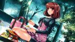 brown_hair food game_cg misaki_kurehito sasaki_kaori ushinawareta_mirai_wo_motomete