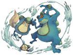 kuuneru no_humans palpitoad pokemon pokemon_(creature) pokemon_(game) pokemon_bw seismitoad simple_background tympole water