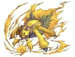 denchura galvantula highres kuuneru nintendo no_humans pokemon pokemon_(game) pokemon_bw simple_background solo white_background