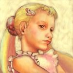 blonde_hair brown_eyes child hair_clip hairclip makihatayama_hana ojamajo_doremi realistic sin_(njn1) twintails